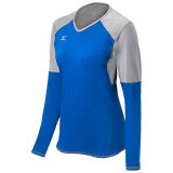 Mizuno Women's Techno Volley VI Long Sleeve Jersey Royal/Silver