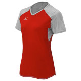 Mizuno Women's Techno Volley VI Short Sleeve Jersey Red/Silver