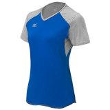 Mizuno Women's Techno Volley VI Short Sleeve Jersey Royal/Silver