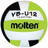 Molten Lightweight VB-U12 Volleyball Black/White/Lime