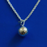 Necklace - Italian Silver Volleyball