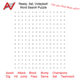 Ready, Set, Volleyball: Word Search