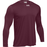 Under Armour Men's Locker T 2.0 Long Sleeve Jersey Maroon