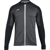 Under Armour Men's Qualifier Hybrid Warm-Up Jacket Black