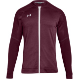 Under Armour Men's Qualifier Hybrid Warm-Up Jacket Maroon