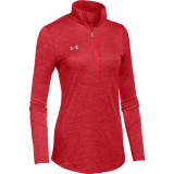 Under Armour Women's Novelty 1/2 Zip Red