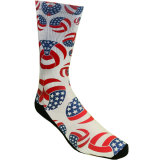 USA Flag Volleyball Sublimated Crew Sock