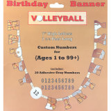 Volleyball Party Supplies - Happy Birthday Banner