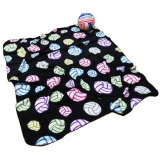 Volleyball Print Blanket - Black