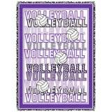 Volleyball Words Afghan - Purple