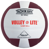 Tachikara SVMNC Volley-Lite® Color Volleyball Cardinal/White
