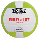 Tachikara SVMNC Volley-Lite® Color Volleyball Lime/White