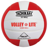 Tachikara SVMNC Volley-Lite® Color Volleyball Scarlet/White
