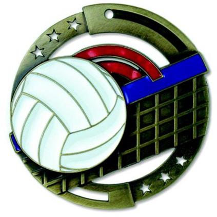 Volleyball Award Medal