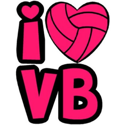 I Heart Volleyball Temporary Tattoo