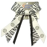 Zebra Volleyball Hair Bow