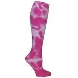 Tie Dye Knee High Socks - Pink
