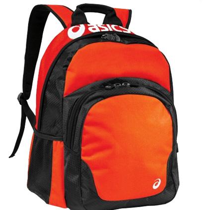 asics team backpack white