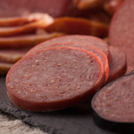 Light-Smoked Summer Sausage 14 oz. (Ride-Along Special $6.95)