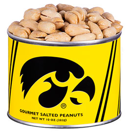 Iowa Hawkeye Salted Peanuts 10 oz. (Ride-Along Special $7.95)