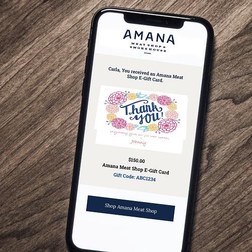 Amana Meat Shop E-Gift Card