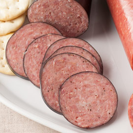 Double-Smoked Summer Sausage 14 oz. (Ride-Along Special $6.75)