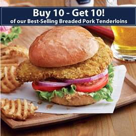 Breaded Pork Tenderloin Bogo Special