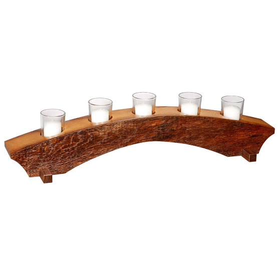 Amana Barn Wood 5-Tier Candle Holder