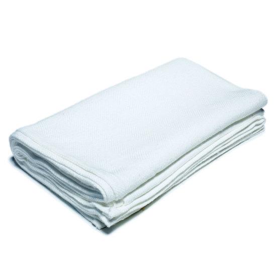 Chevron Bed Blanket - Bleach