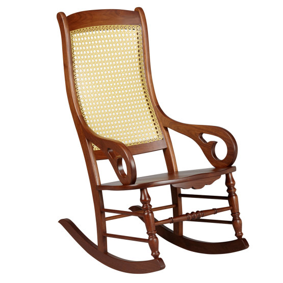 Amana Rocker with Wood Seat