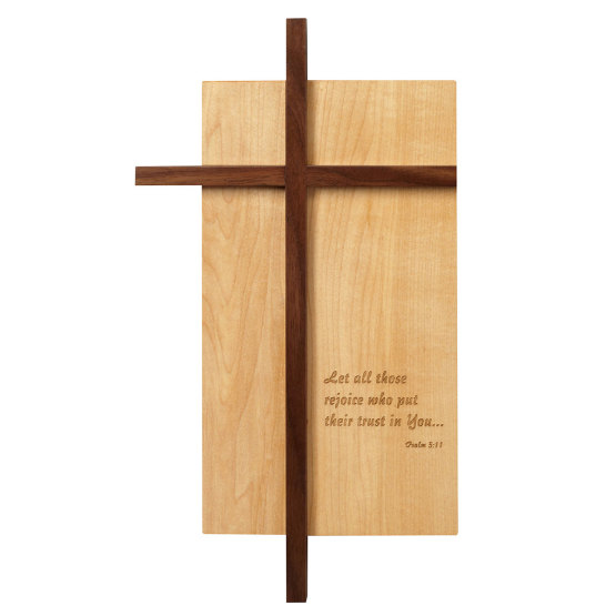 Amana Large Off-Set Cross with engraving