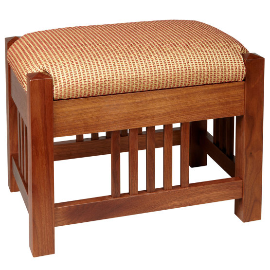 Amana Mission Upholstered Slat Footstool