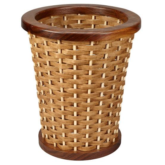 Round Woven Wastebasket