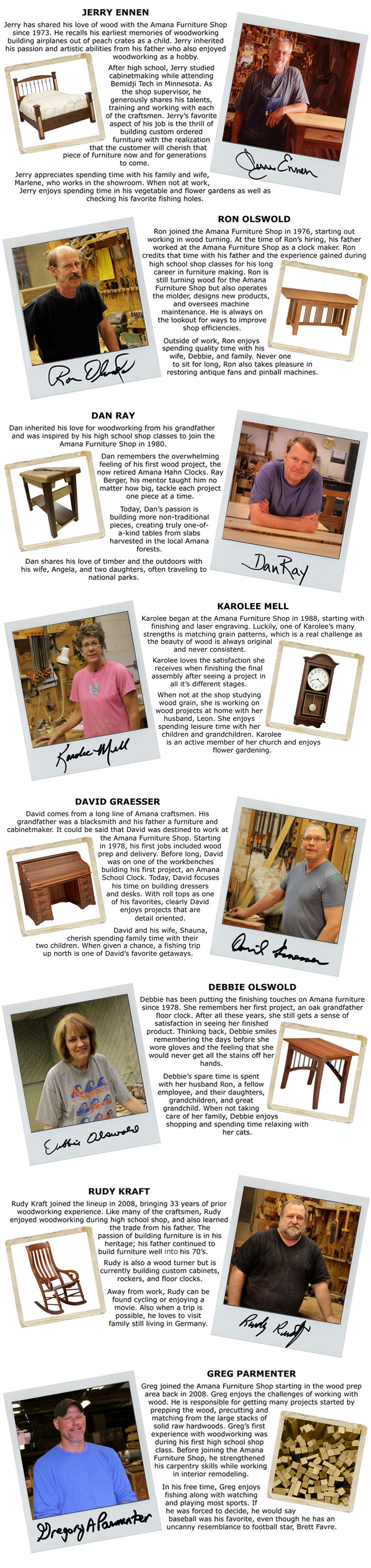 Meet Our Craftsmen