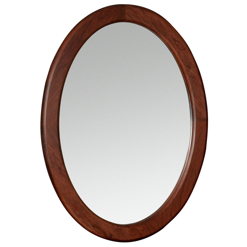 Amana Oval Mirror Wood Stain