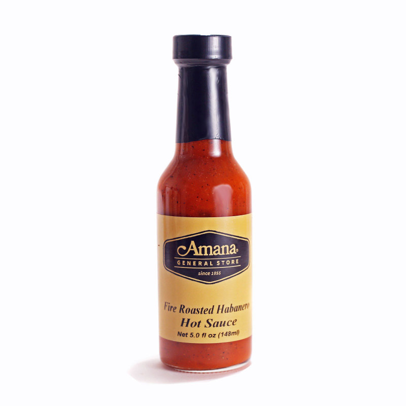 fire roasted habanero hot sauce for sale amana general store. Black Bedroom Furniture Sets. Home Design Ideas