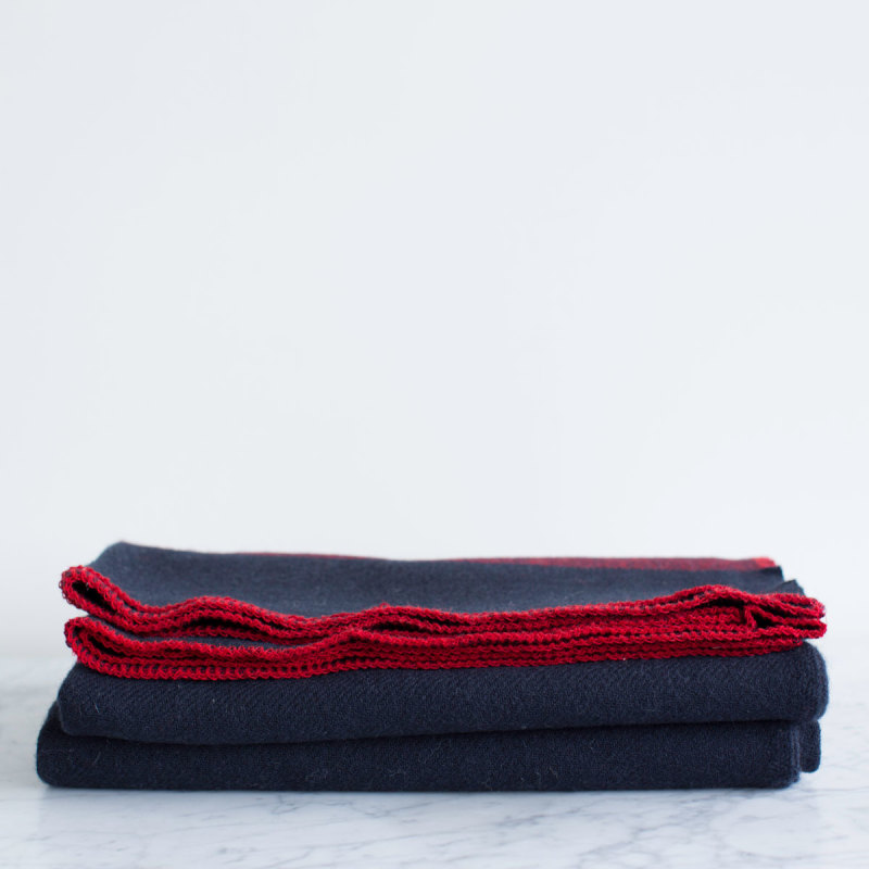 ... Black and Navy Wool Blanket - Amana Shops ... 3a0ba8b0c