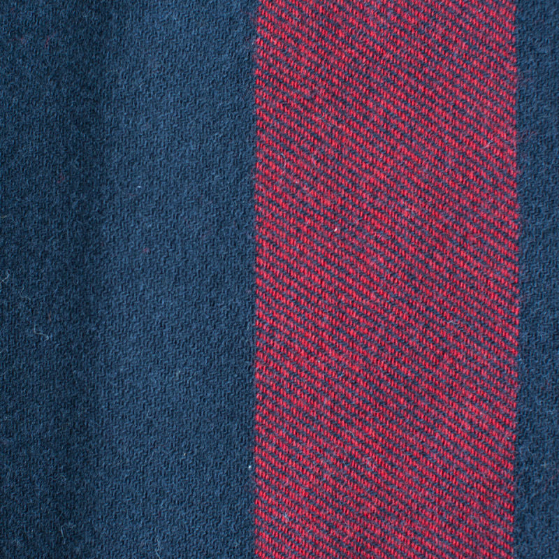 Navy and Red Woolen Mill Blanket - Amana Shops d24e78c82
