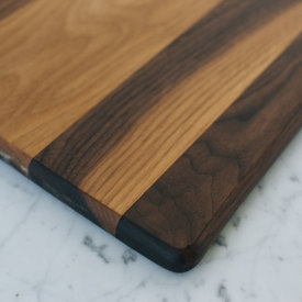 Offset Wide Kitchen Board - Walnut