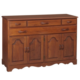 Shown In Walnut With Amana Carved Leaf Handles