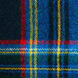 Navy Stewart Tartan Wool Blanket