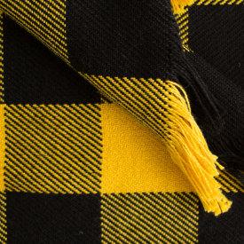 Black & Gold Rob Roy Check Cotton Throw
