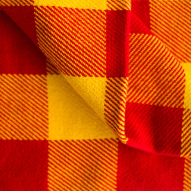 Red/Gold Cotton Stadium Blanket