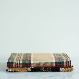 Wheat Stewart Tartan Cotton Throw