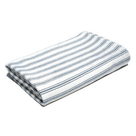 Vintage Ticking Bed Blanket - Bleach/Natural/Navy