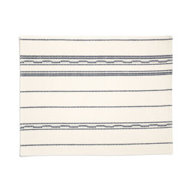 Amana Weave Placemat Natural/Navy