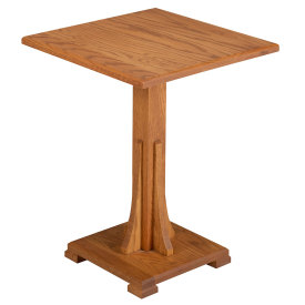 Mission Pedestal Table