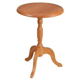 Amana Round Pedestal Table w/ Small Edelweiss Carving