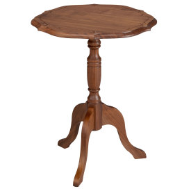 Amana Pie Crust Table with Edelweiss Carving