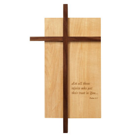 Amana Large Off-Set Cross with carving